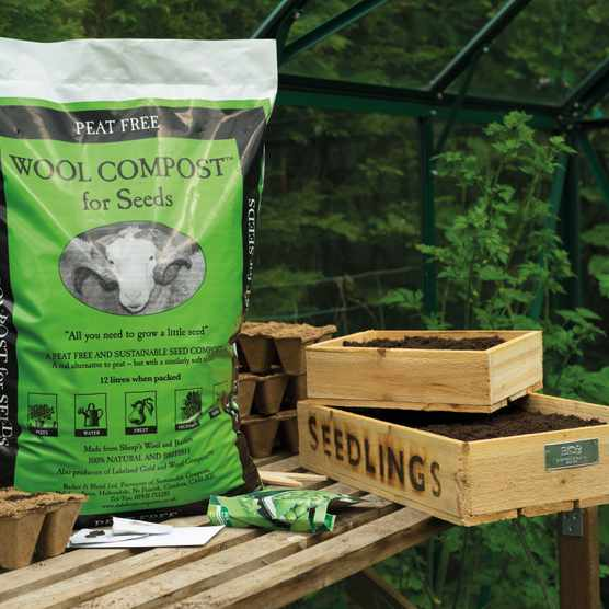 Wool compost from Dalefoot Composts