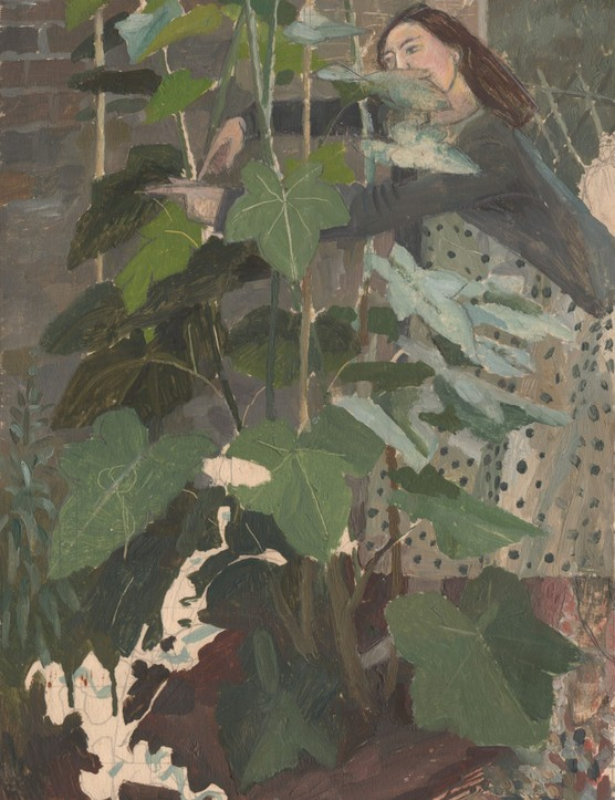 Evelyn Dunbar (1906-1960), Woman tending Bocconea cordata c.1937.