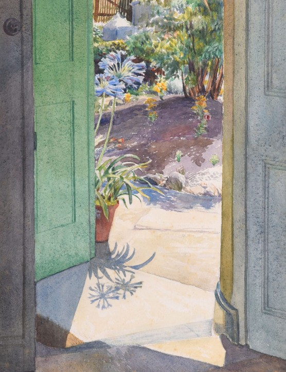 Phyllis Dodd (1899-1995), Summer Doorway with African Lilies, c.1948,