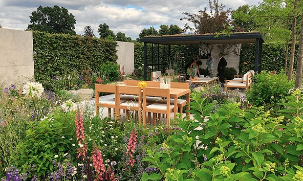 Garden at the London College of Garden Design