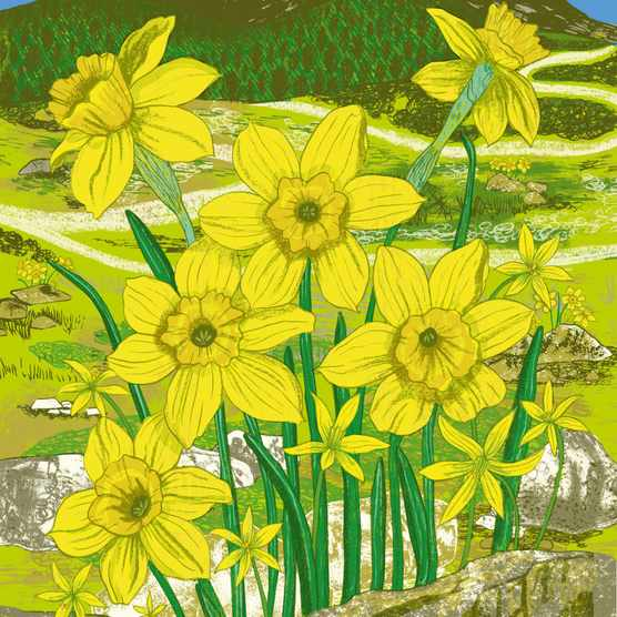 Alice Pattullo's illustration of Sierra de Guadarrama mountains