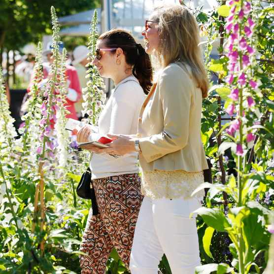 Visitors at Chelsea Flower Show