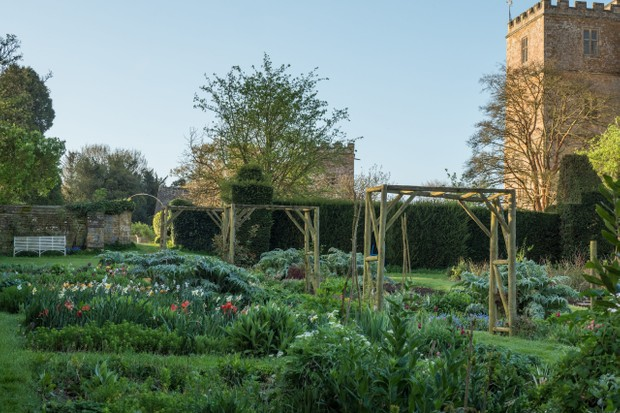 Kitchen Garden at Chastleton House and Garden