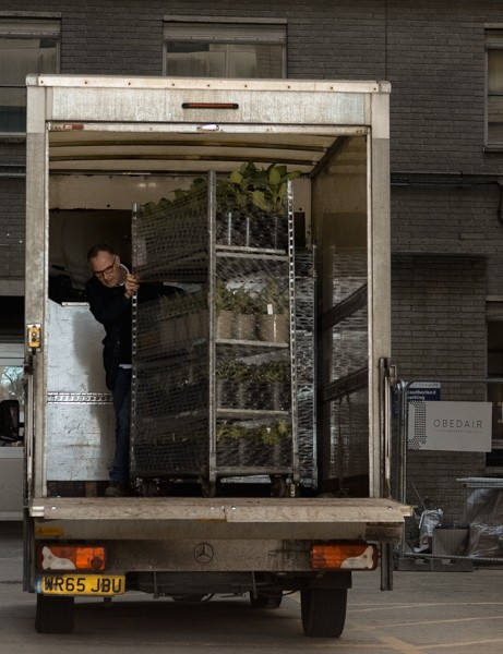 Plants arriving with Mark Shaver Hortus Loci