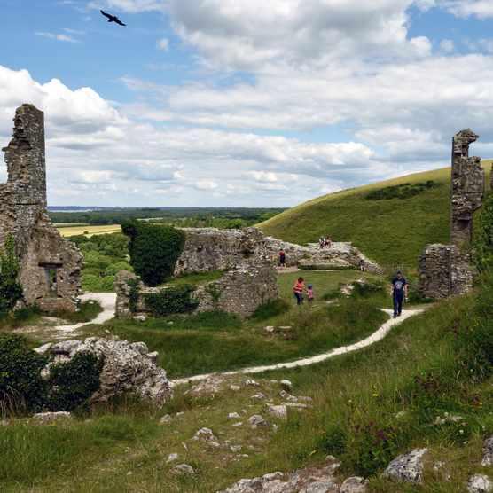 Visitors at Corfe Castle, Dorset