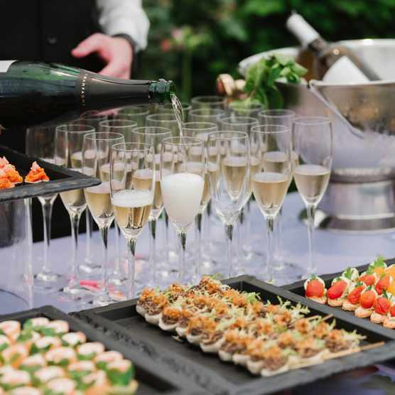 Meeting points with canapes and champagne at RHS Chelsea Flower Show Gala 2019