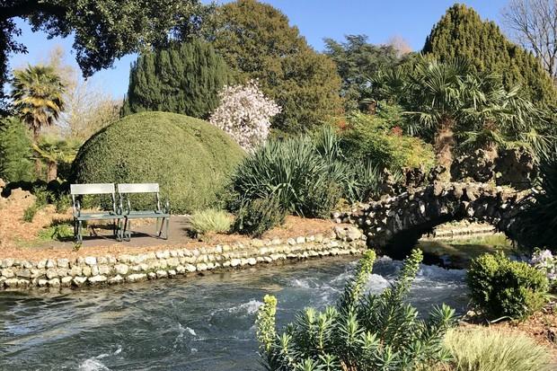 River Lavant in Spring Garden at West Dean