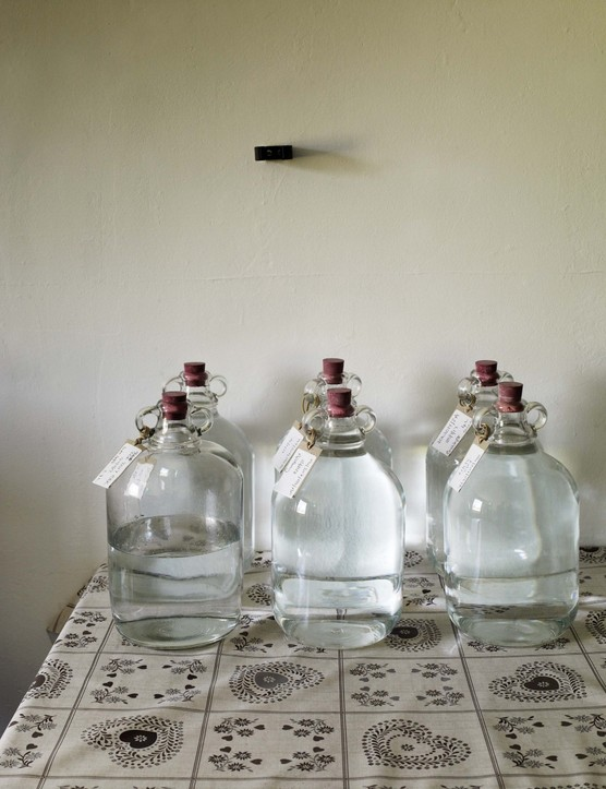 After distillation, the rosewater is left to mature in a cool, dark barn before being bottled up.