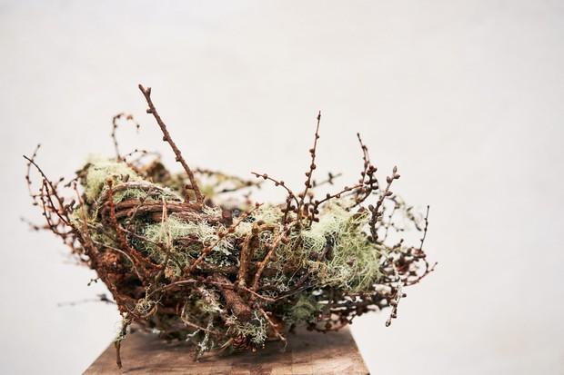 One of Joe Hogan's woven artistic baskets