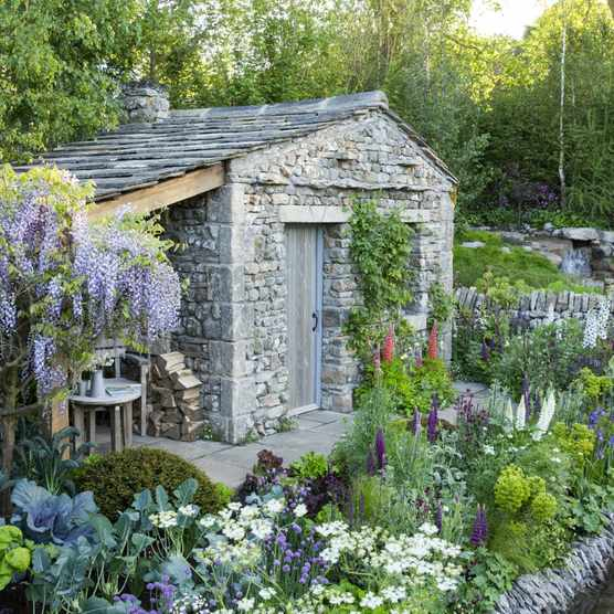 Welcome to Yorkshire garden Designed by Mark Gregory from Landform. RHS Chelsea Flower Show 2018, May 2018