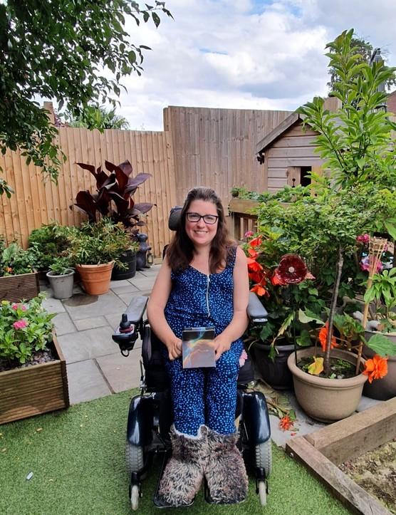 Nila Watson in the garden