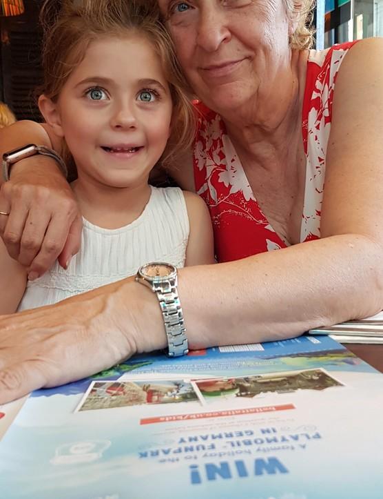 Vanessa Watson and her granddaughter