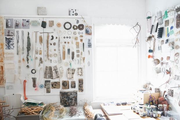Alice Fox's studio wall