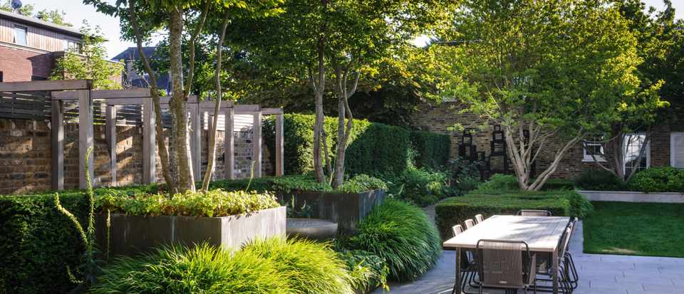 Small west London garden designed by Harris Bugg Studio