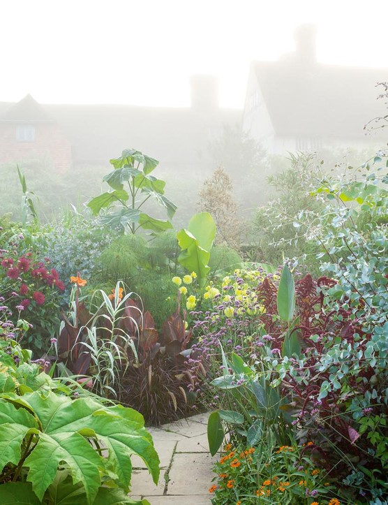 The Exotic Garden at Great Dixter caused controversy in 1993 when the jungle-like planting replaced Lutyens' Rose Garden.