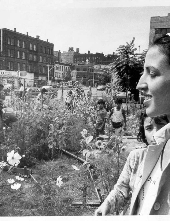 In 1973, Liz Christy and her group Green Guerrillas were granted a vacant plot plot for $1 a month in NYC. They continue to support garden projects across the city's five boroughs
