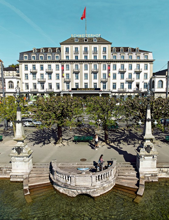 Hotel Schweizerhof, Luzern. This lakeside hotel has been owned by the Hauser family for 160 years and has welcomed Leo Tolstoy and Mark Twain among its guests. Today it houses 101 elegant rooms and suites.