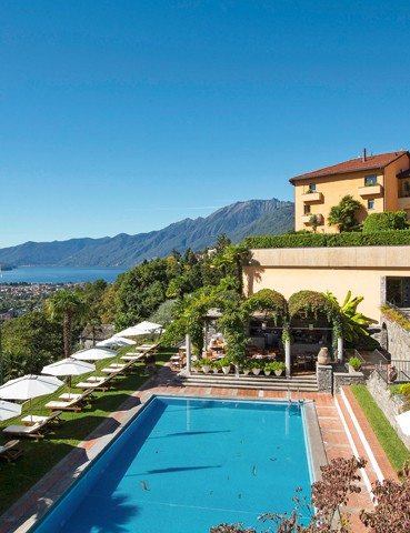 Villa Orselina, Locarno. Just ten minutes from the centre of Locarno, this luxury boutique hotel overlooking Lake Maggiore is the ideal spot to unwind.