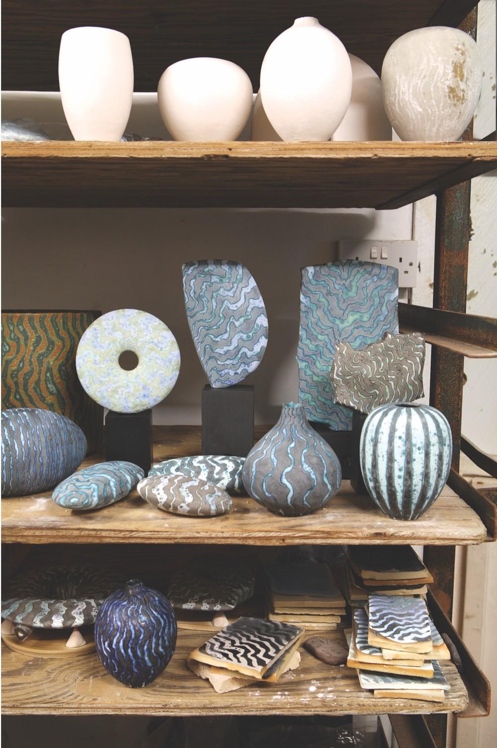 Glazed stoneware pottery by Peter Beard