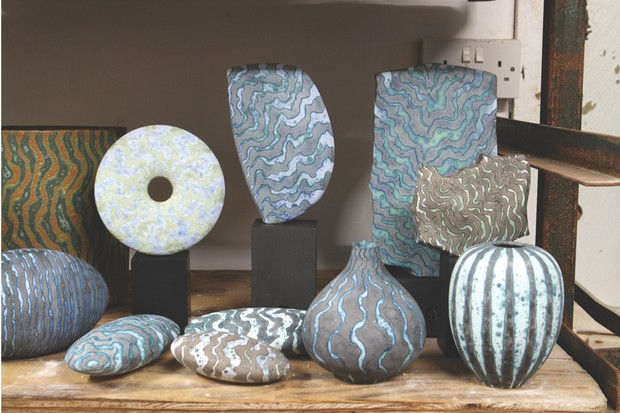 Glazed stoneware pottery by Peter Beard