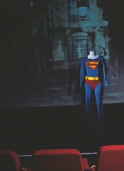 Worn by Christopher Reeve, in the first Superman film, this partial outfit is valued at approximately £30,000, and is stocked by The Prop Store of London