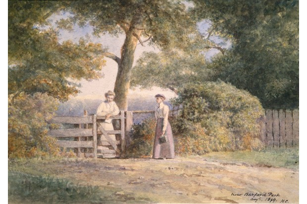 Discovering Antiques, watercolours