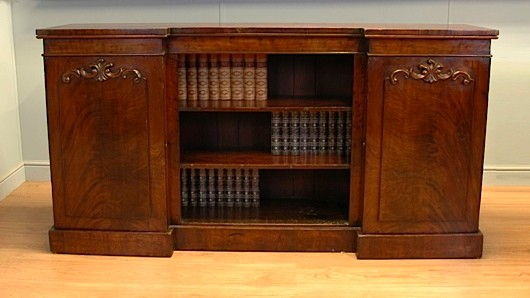 A Victorian sideboard