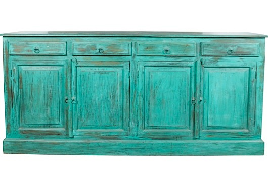 a turquoise wash sideboard