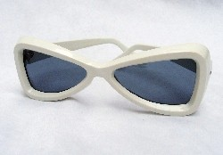 A pair of white Foster and Grant sunglasses