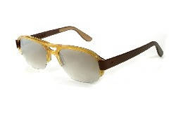A pair of brown vintage sunglasses