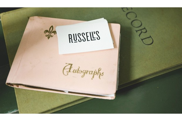 Russell's of Clapton business cards