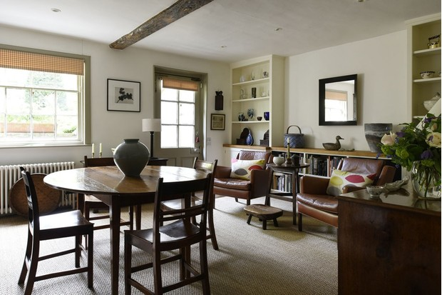 The dining room of Robert Hirschhorn and John Hall's townhouse