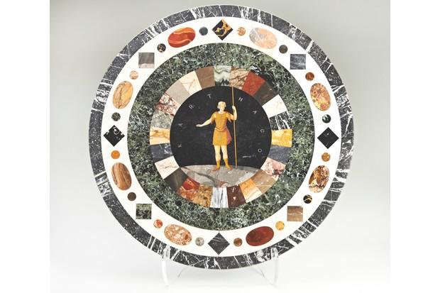Roman mosaic-style tabletop