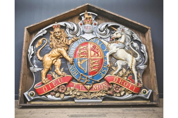 A 6 foot tall coat of arms