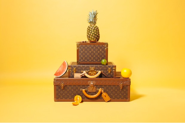 Monogram cosmetic case, £840, monogram 'President Classeur' briefcase, £1,200, monogram 'Alzer 70' hard suitcase estimated at £1,400-£2,000 didn't sell, all Louis Vuitton