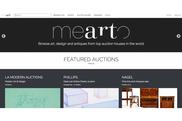 An image of Mearto's website homepage