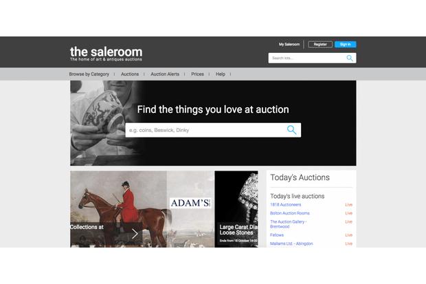 An image of the saleroom website