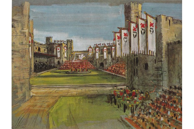 The design for the Prince of Wales' Investiture ceremony by Carl Toms