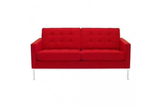 Florence Knoll red 2 seat Cato sofa, £8,220, The Conran Shop
