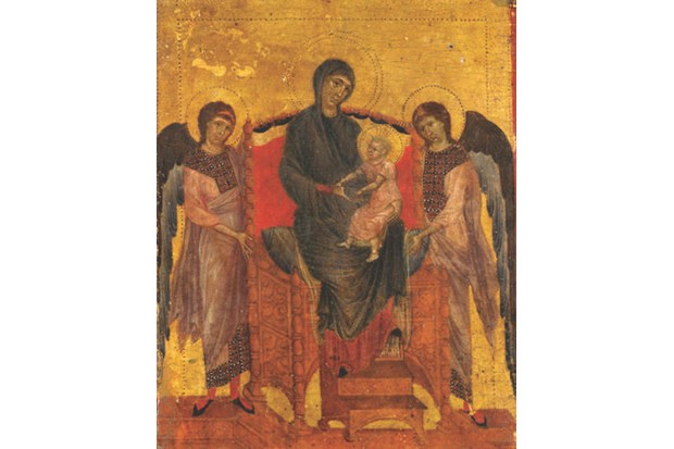 HKRHPM Cimabue, The Virgin and Child Enthroned with Two Angels