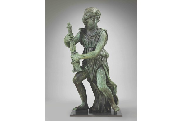 A.4-2015 Sculpture Candle-bearing angel with diadem, by Benedetto da Rovezzano, bronze, about 1524-1529 Benedetto da Rovezzano (1474-1554) London 1524-1529