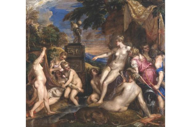 F3RKWH Tiziano Vecellio - Titian - Diana and Callisto