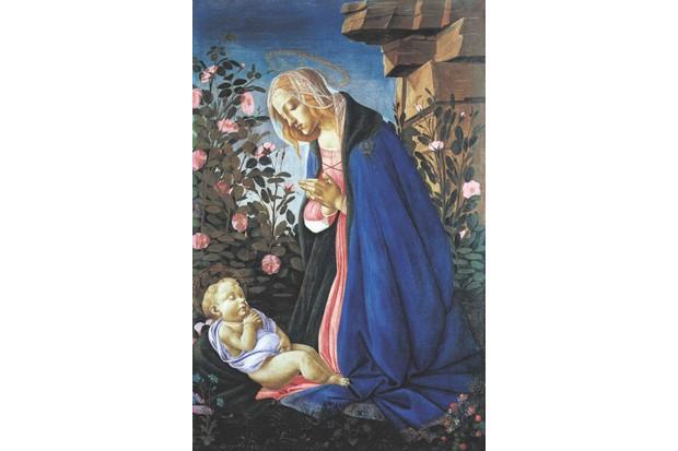 F41KX8 Sandro Botticelli - The Virgin Adoring the Sleeping Christ Child