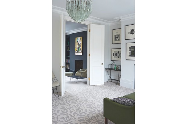 'Oyster Atholl Gardens' carpet, 80 per cent wool, 20 per cent nylon, £89.99 per sq m, Timorous Beasties Collection, Brintons
