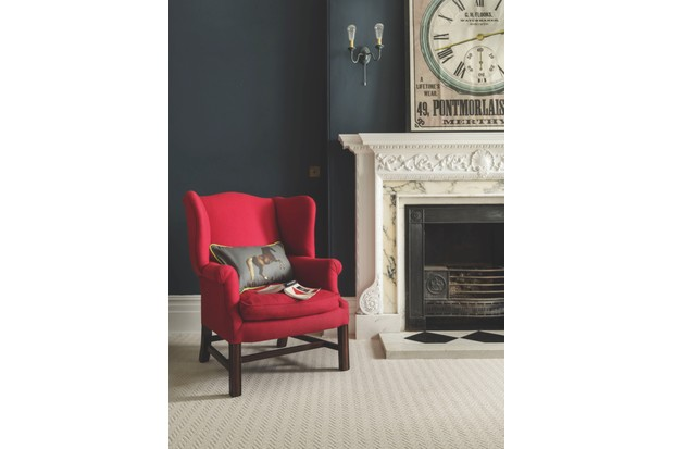 'Eriskay' 100 per cent undyed wool carpet, £40 per sq m, Natural Tweed collection, Brockway