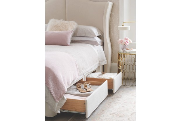 'Willow Sublime' king size mattress and deep divan base with drawers, built-in Yale safe and winged headboard, £4,974, Hypnos