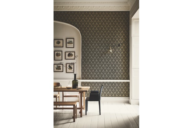 Archive designs with proven longevity have an authentically timeless look. 'Borough High St' wallpaper in 'Stamp', £86 per roll, London Wallpaper IV collection, Little Greene