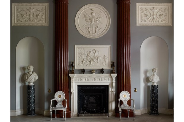 Elaborate Georgian plasterwork at Harewood House