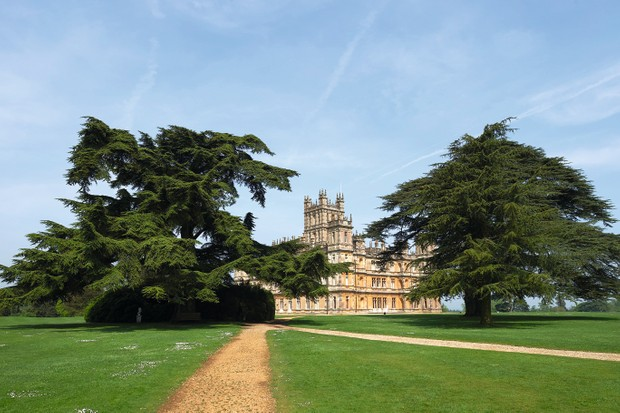 """Highclere Castle, is pictured in Highclere, southern England, on May 12, 2016. As Britain mulls questions of identity and its possible exit from the European Union, 2016 is an anniversary year for three of its most potent symbols: the queen, Shakespeare and gardener """"Capability"""" Brown. Lancelot """"Capability"""" Brown is credited with having created over 170 gardens, among them the grounds of Highclere Castle, made famous as the set of the hit television series Downton Abbey"""