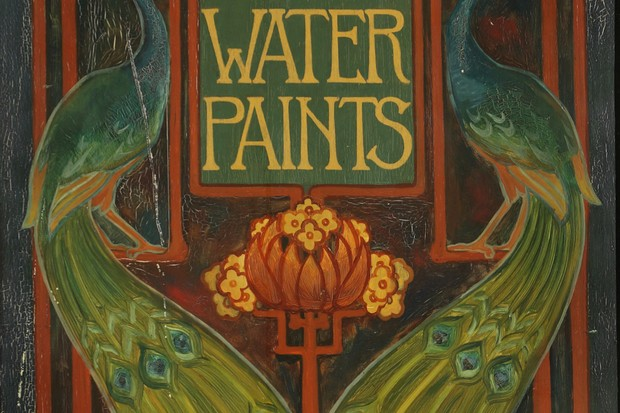 An Art Nouveau advert for Olsina Water Paints